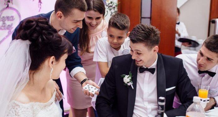 Pokaz iluzji na weselu